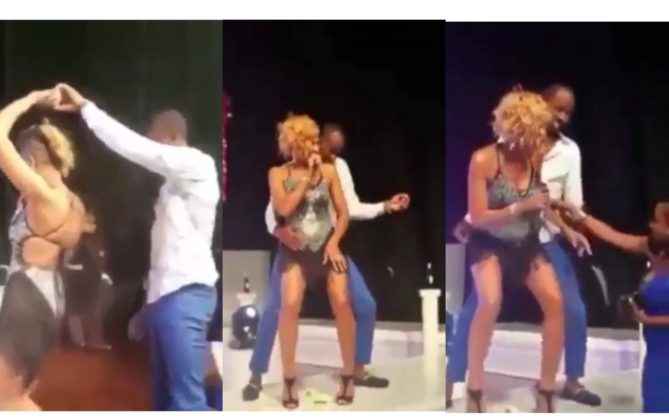 D'Angel Goes Viral After Woman Drags Husband Off Stage For Dancing With Her