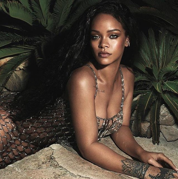Rihanna Tags Popcaan In Her Latest Topless Post